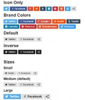 Social share buttons plugin for Virtuemart products