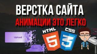 Верстка сайта - HTML,CSS анимации с нуля при прокрутке